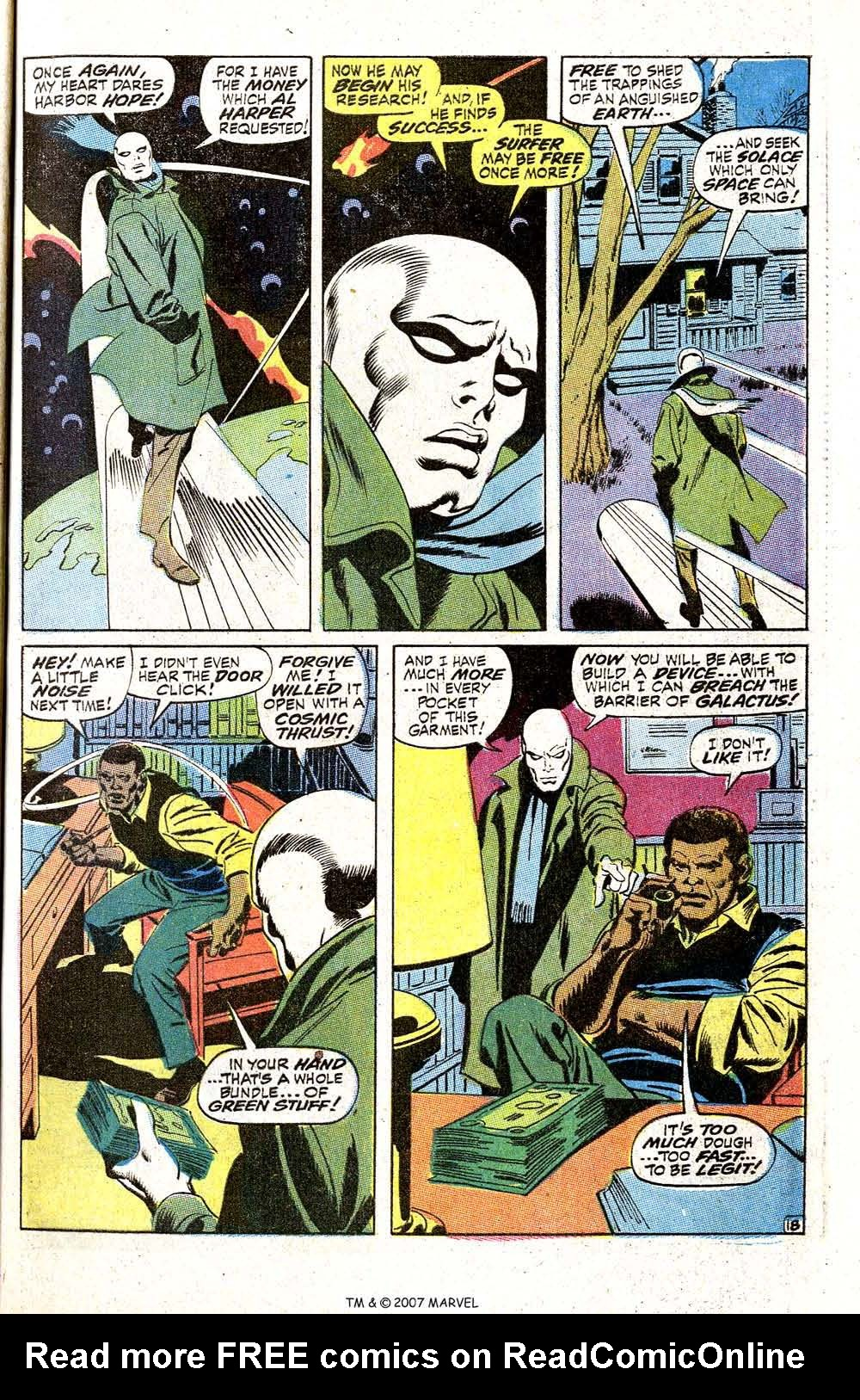 Read online Silver Surfer (1968) comic -  Issue #5 - 23