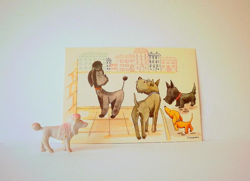 Vintage Dog Post Card
