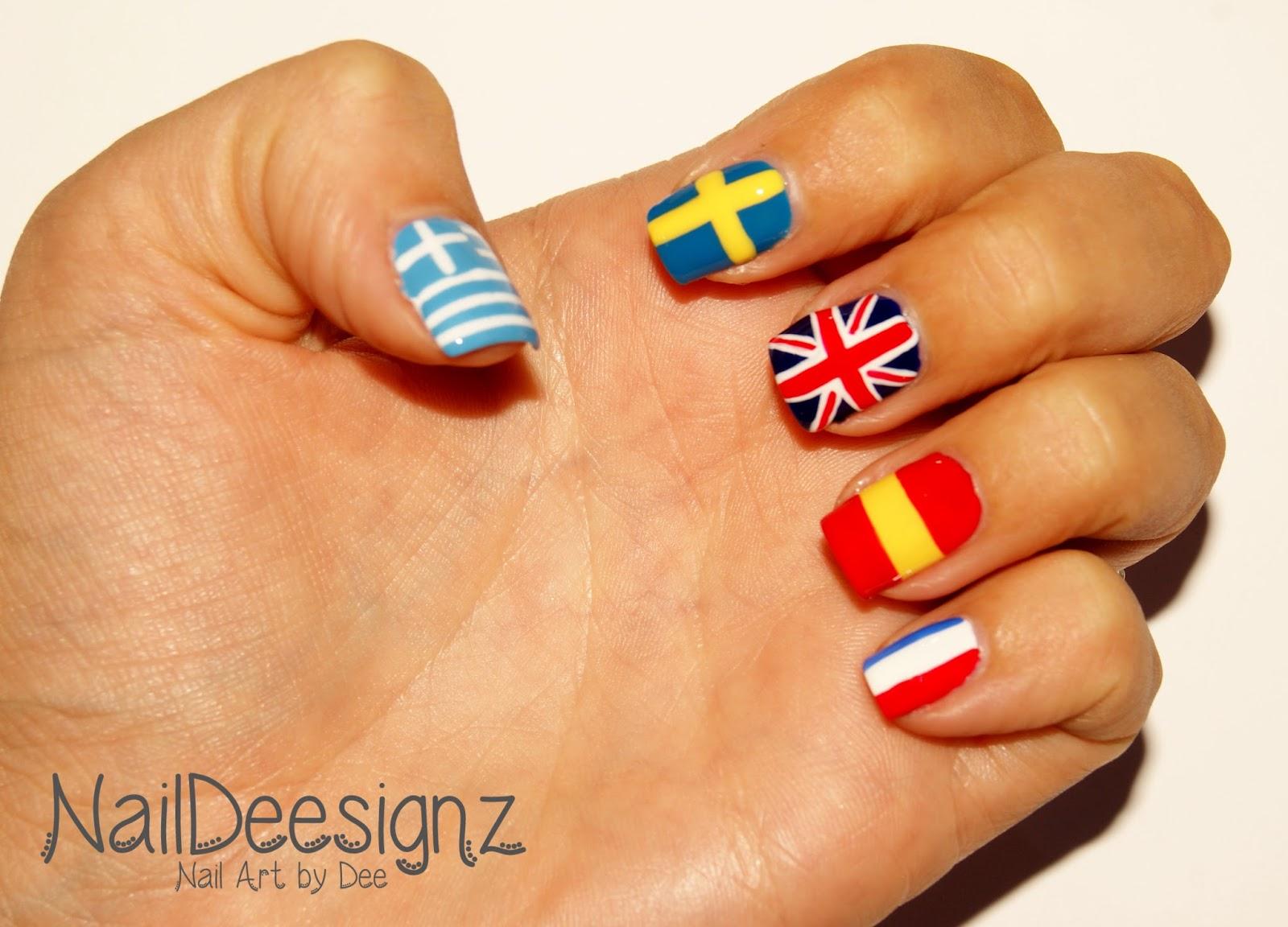 NailDeesignz: European Languages Day Nail Art