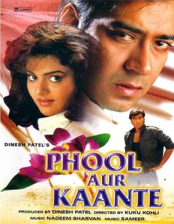 Poster Of Phool Aur Kaante 1991 Hindi 500MB HDRip 720p ESubs HEVC Watch Online Free Download downloadhub.net