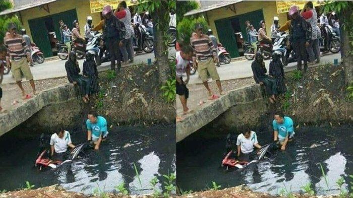 Viral Foto Evakuasi Motor, Sosok Dua Perempuan Ini Justru Jadi Perhatian