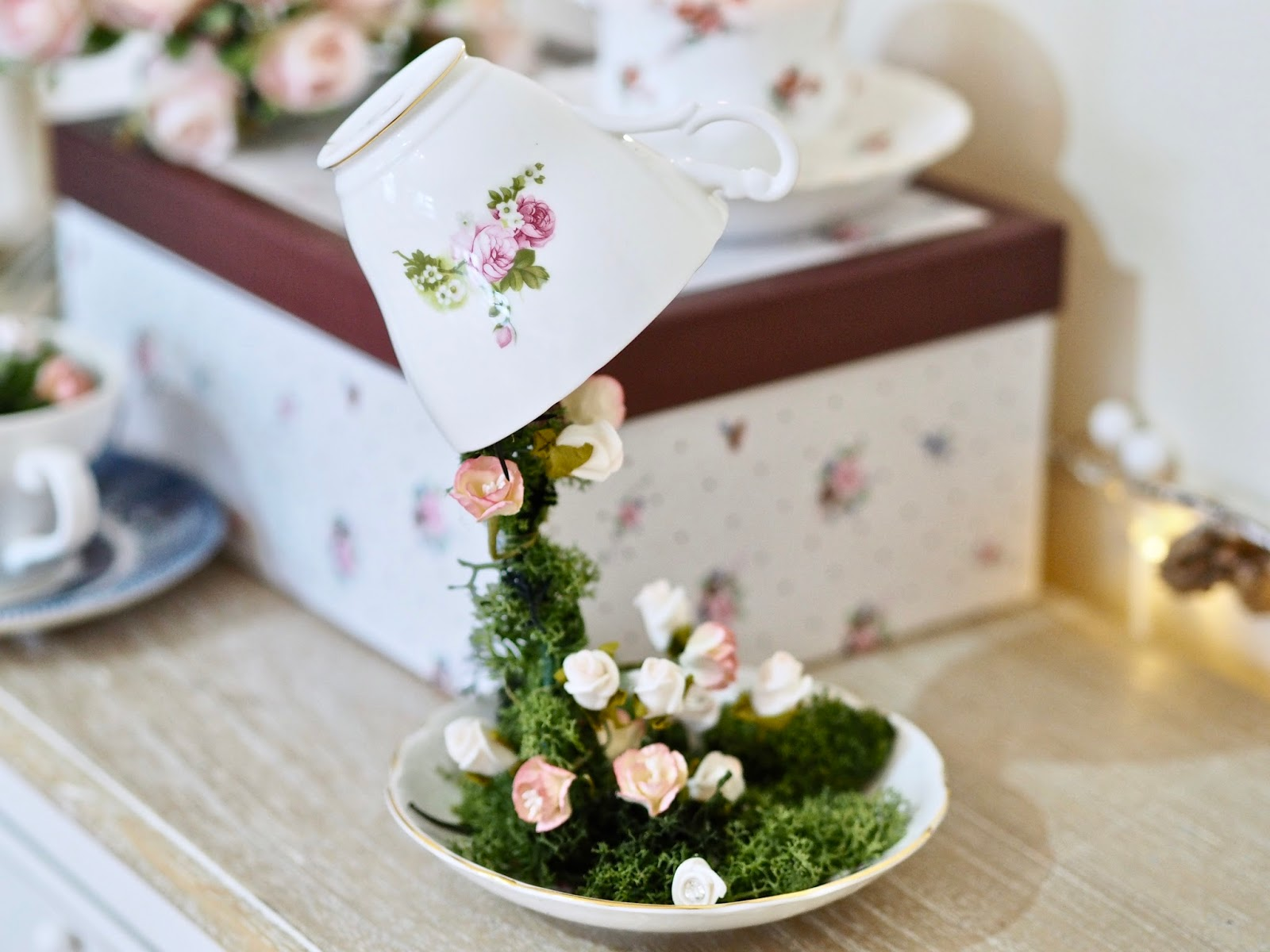 Floating Tea Cup Tutorial The Dainty Dress Diaries
