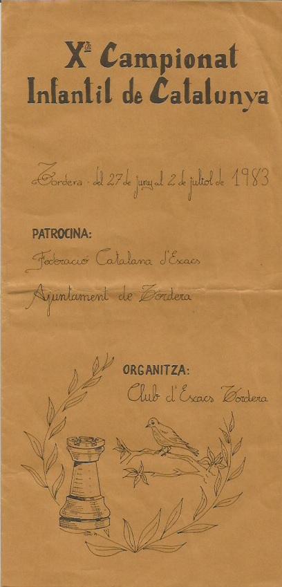 Portada del programa del Campeonato Infantil de Catalunya 1983