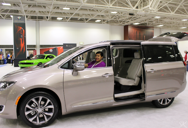 Grey Pacifica minivan at the auto show
