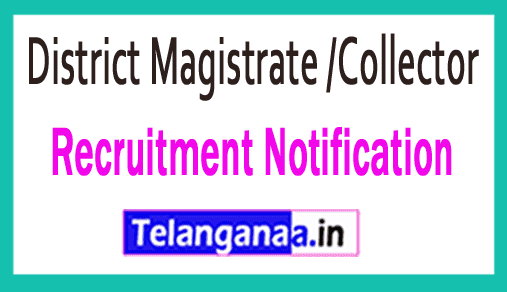 District Magistrate /Collector Recruitment