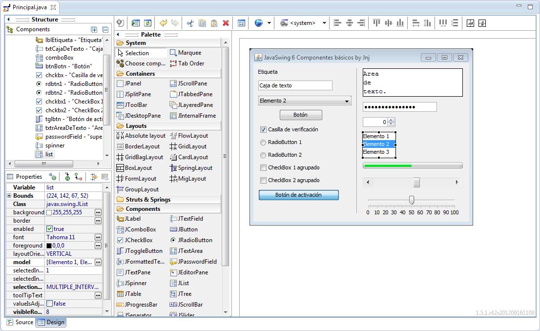 Java Swing 6: Los componentes básicos • JnjSite com