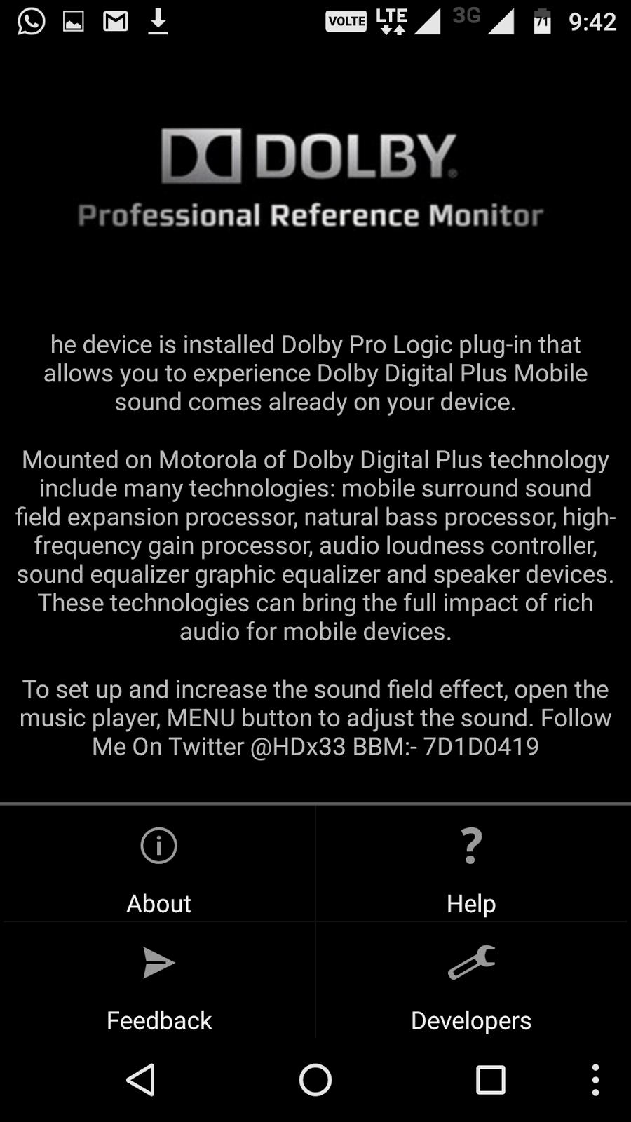 Ezhutthola: Dolby Digital Plus For Mobile[NO ROOT][NO RECOVERY]