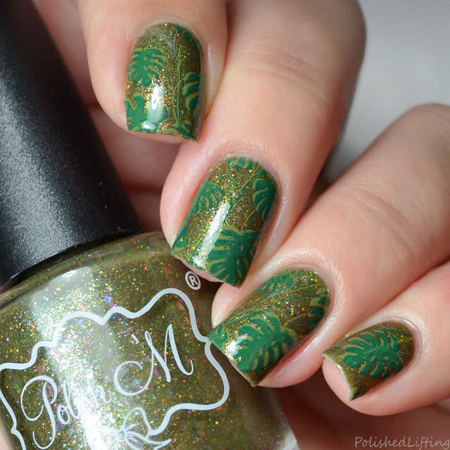 monstera deliciosa nail art