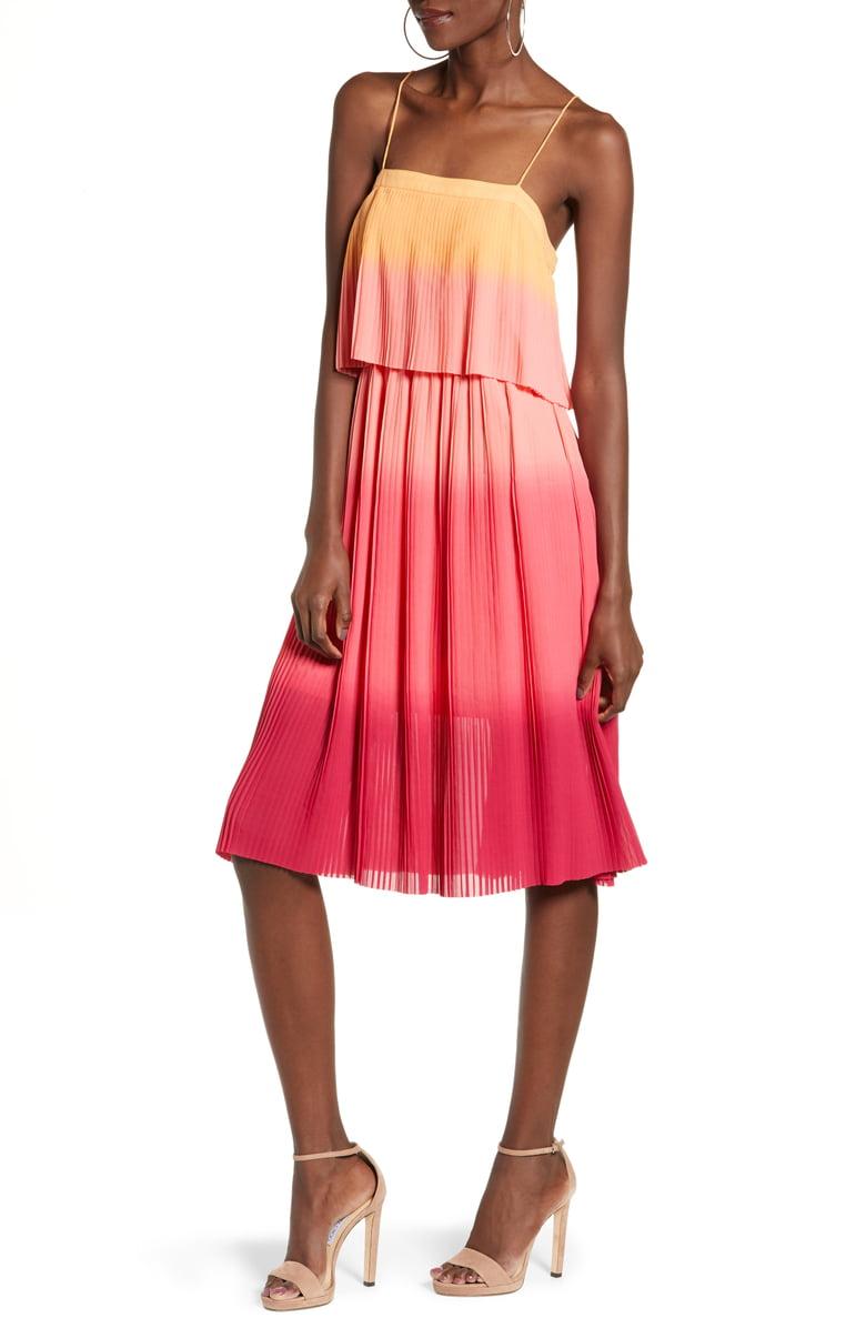 Leith Pleated Midi Dress