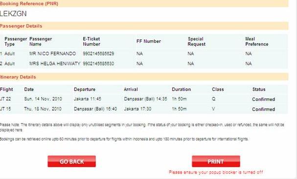 Cetak Tiket Lion Air Online Dirumah Pakai Printer Sendiri