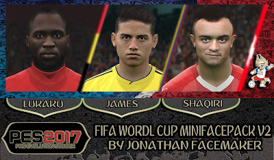 PES 2017 Facepack FIFA World Cup 2018 v2 by Jonathan Facemaker