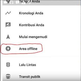 menu area offline