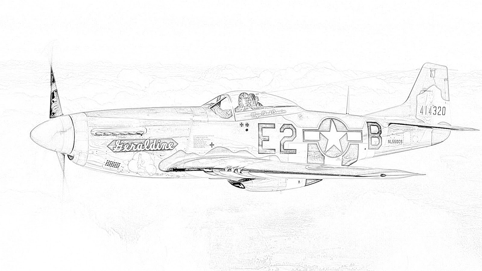 Ww2 Fighter Plane Coloring Pages Sketch Coloring Page
