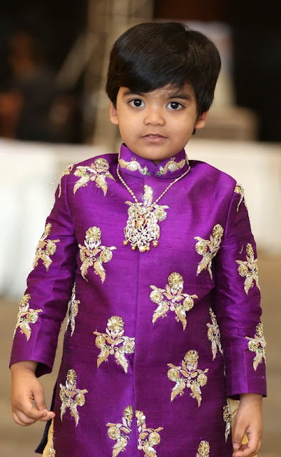Cute Boy in Simple Diamond Pendant