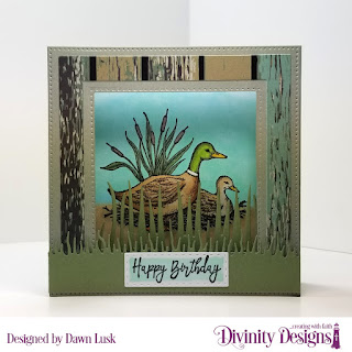 Divinity Designs Stamp Set: Best Dad Ever, Paper Collection: Weathered Wood, Custom Dies: Diorama with Layers_ Double Stitched Rectangles_ Grass Lawn_ Grass Border