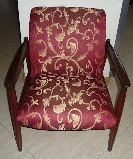 fotel projektu prof. Homy po renowacji