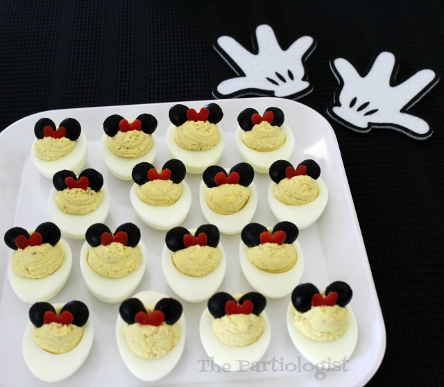 olive and red pepper deviled eggs