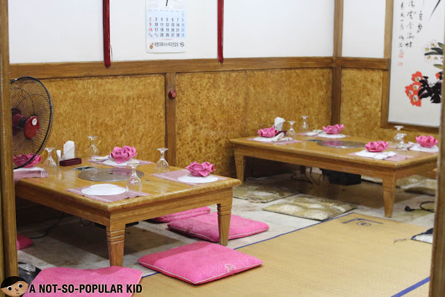 Korean dining set up in Dong Won Garden