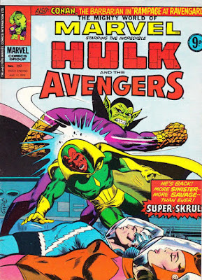 Mighty World of Marvel #202, Vision vs Super-Skrull