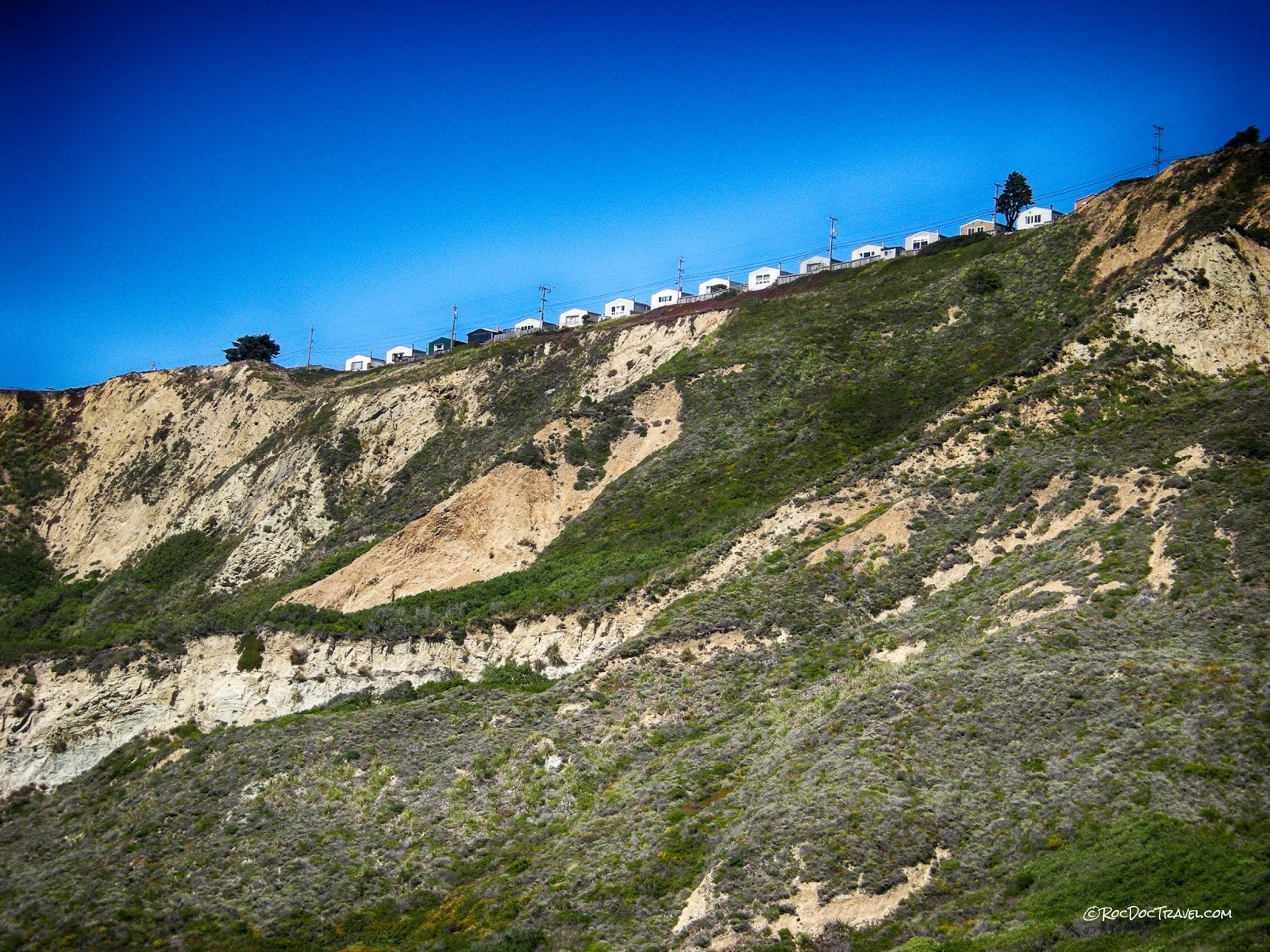 California landslide flood geology travel trip Eel River San Francisco coast Palos Verdes San Andreas copyright RocDocTravel.com