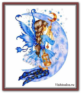 Cross stitch chart «KAM 103 Light The Stars + LF - artwork by Karen Middleton»
