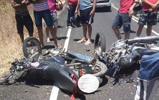 Colisão entre motos mata dois homens e deixa mulher ferida na PB; uma das vítimas era professor