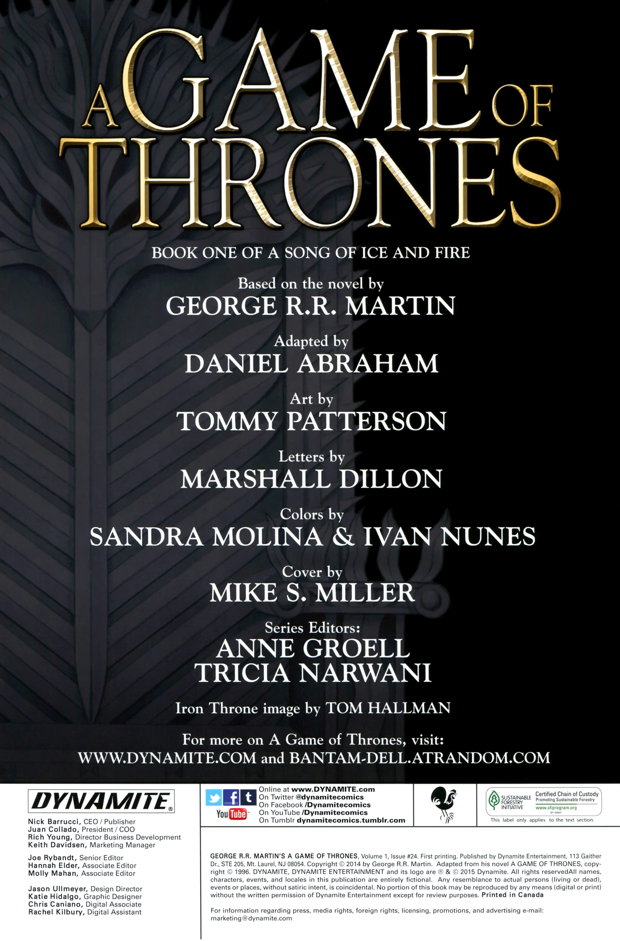 Read online A Game Of Thrones comic -  Issue #24 - 2