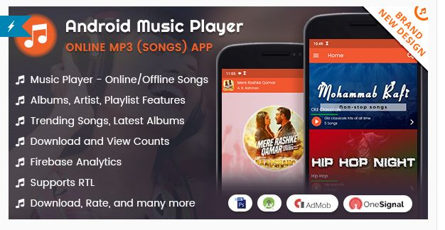 Source Code Android Music Player - Online MP3 (Songs) App