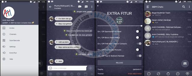 BBM Mod Dark navy Style Versio 3.1.0.13 Apk Terbaru For Android