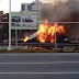 Carro em chamas na rodovia BR-101 altura do Hiper. Evitem o trecho sentido sul