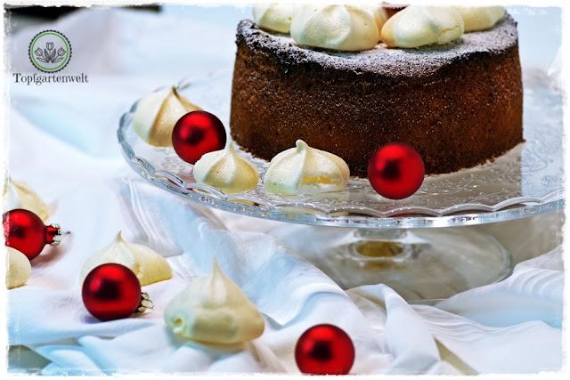 Gartenblog Topfgartenwelt fruchtig in den Heiligen Abend: Rezept Zitronenkuchen mit Baiser Topping - selbst gemacht