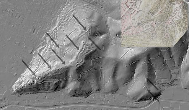 Fortifications de Freiburg i. B. — LIDAR (Geoportal BW)
