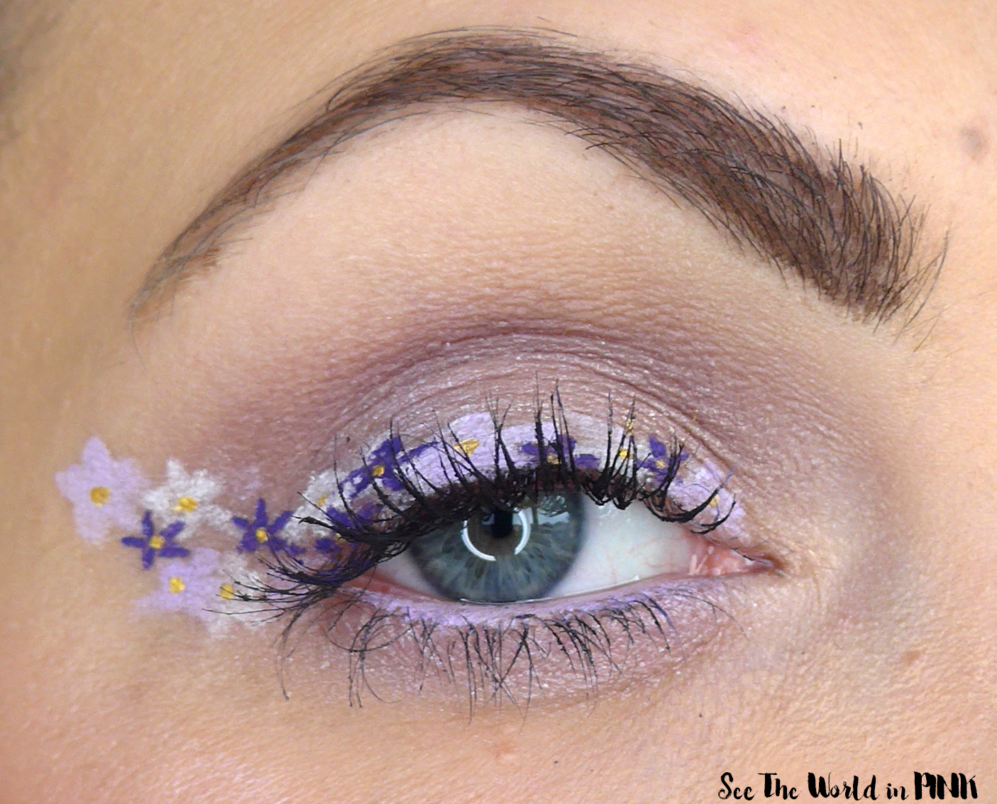 May Shop My Stash - Flower Eyeliner Makeup Look