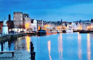 Edinburgh, Scotland beautiful old harbour Leith
