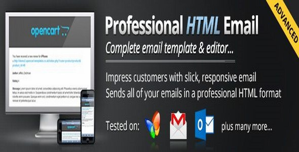Advanced Professional Email Template v2.4.1 For – OpenCart