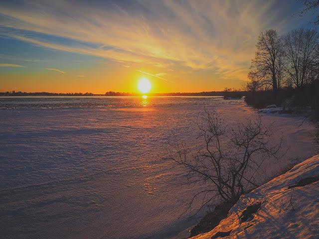 Ottawa Ontario Winter Sunset Ottawa River Viliam Glazduri