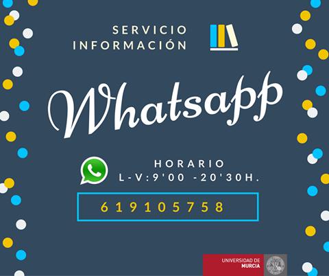 Servicio de información en la BUM a través de WHATSAPP.