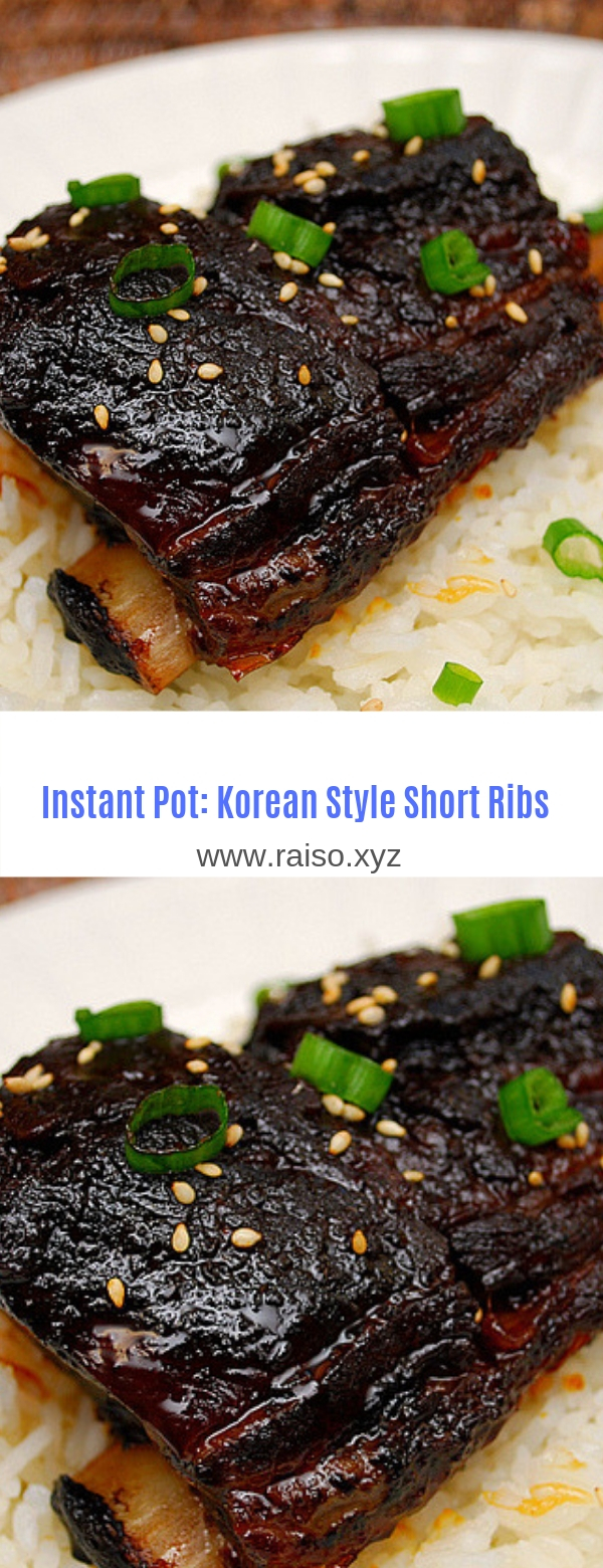 Instant Pot: Korean Style Short Ribs