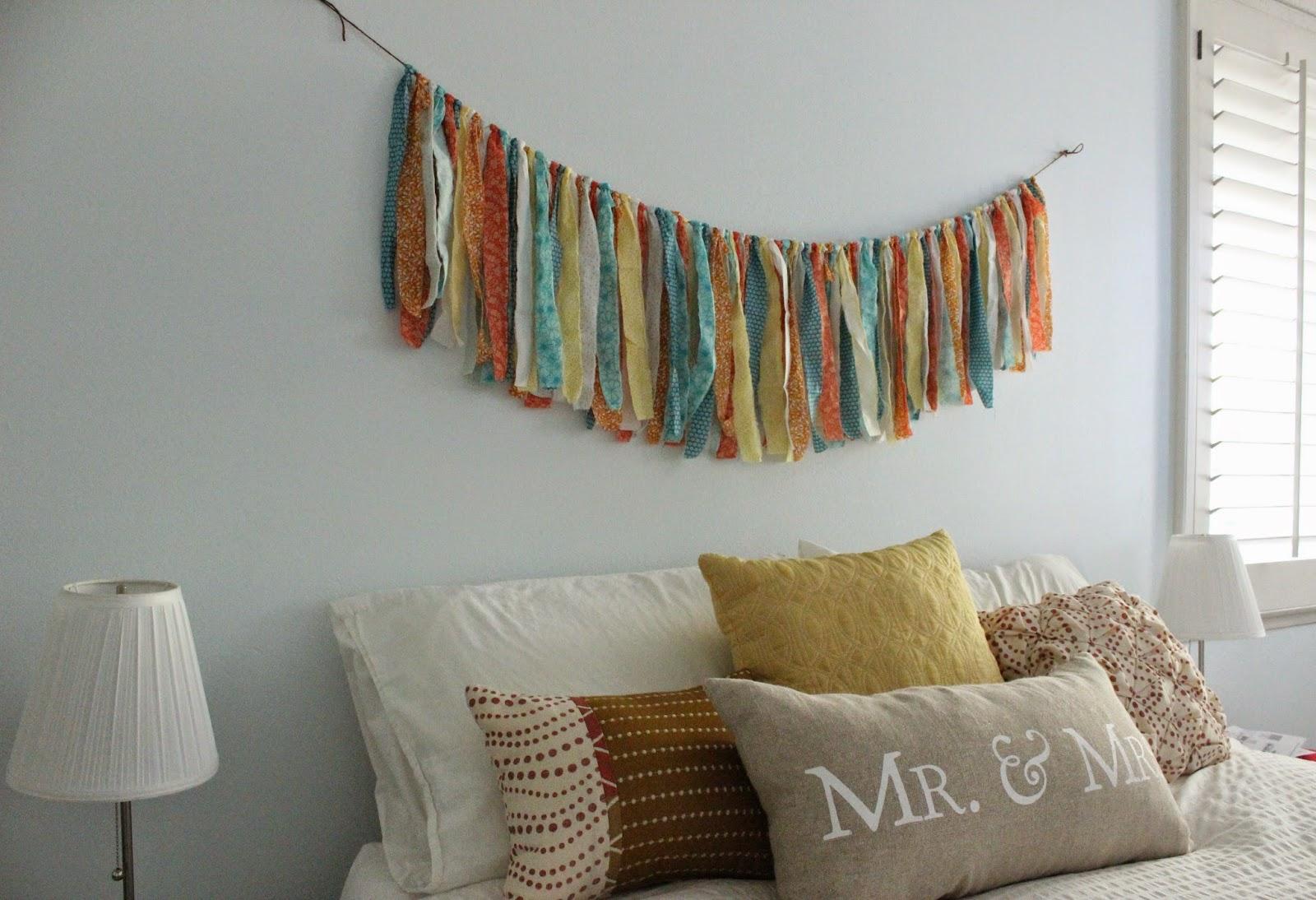 Bedroom Fabric Garland Diy