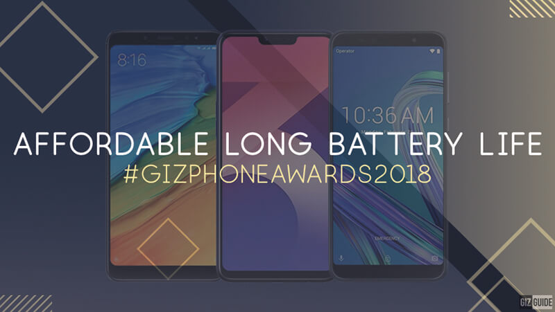 Affordable long battery life smartphone of the year (Under PHP 10K)