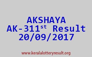 AKSHAYA Lottery AK 311 Results 20-9-2017