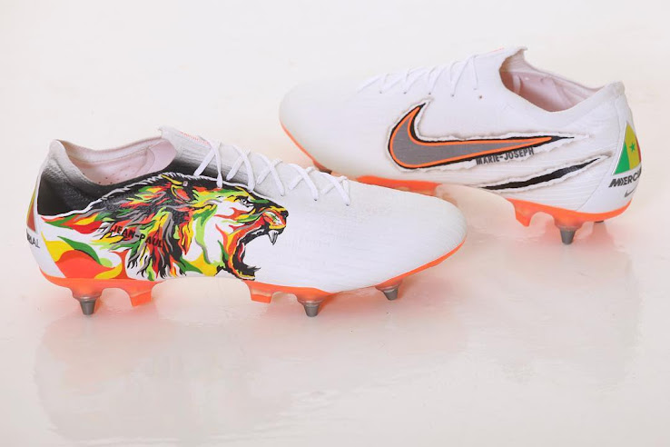 bb5cde17d55e Senegal defender Salif Sané has been spotted wearing a quite awesome pair  of custom Nike Mercurial Vapor 360 football boots in the 2018 World Cup  match ...