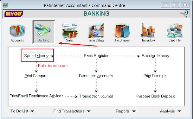 Cara mencatat transaksi bank di myob | Speed money, receive money and rekonsiliasi