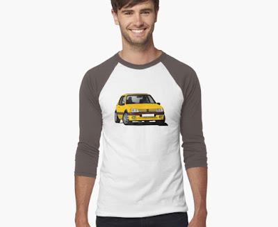 Keltainen Peugeot 205 GTi paita
