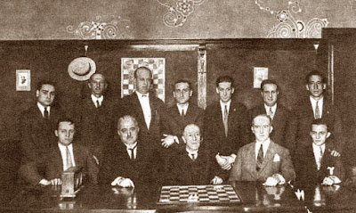 Ajedrecistas participantes en el Torneo Nacional de Ajedrez de Barcelona 1926