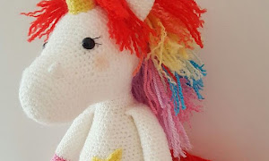 Free Amigurumi Unicorn Pattern : Free amigurumi pattern crochet unicorn macarons toys