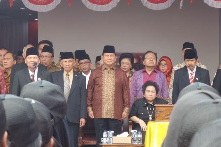 Ini Alasan Prabowo Pilih Upacara di UBK Daripada di Istana Merdeka