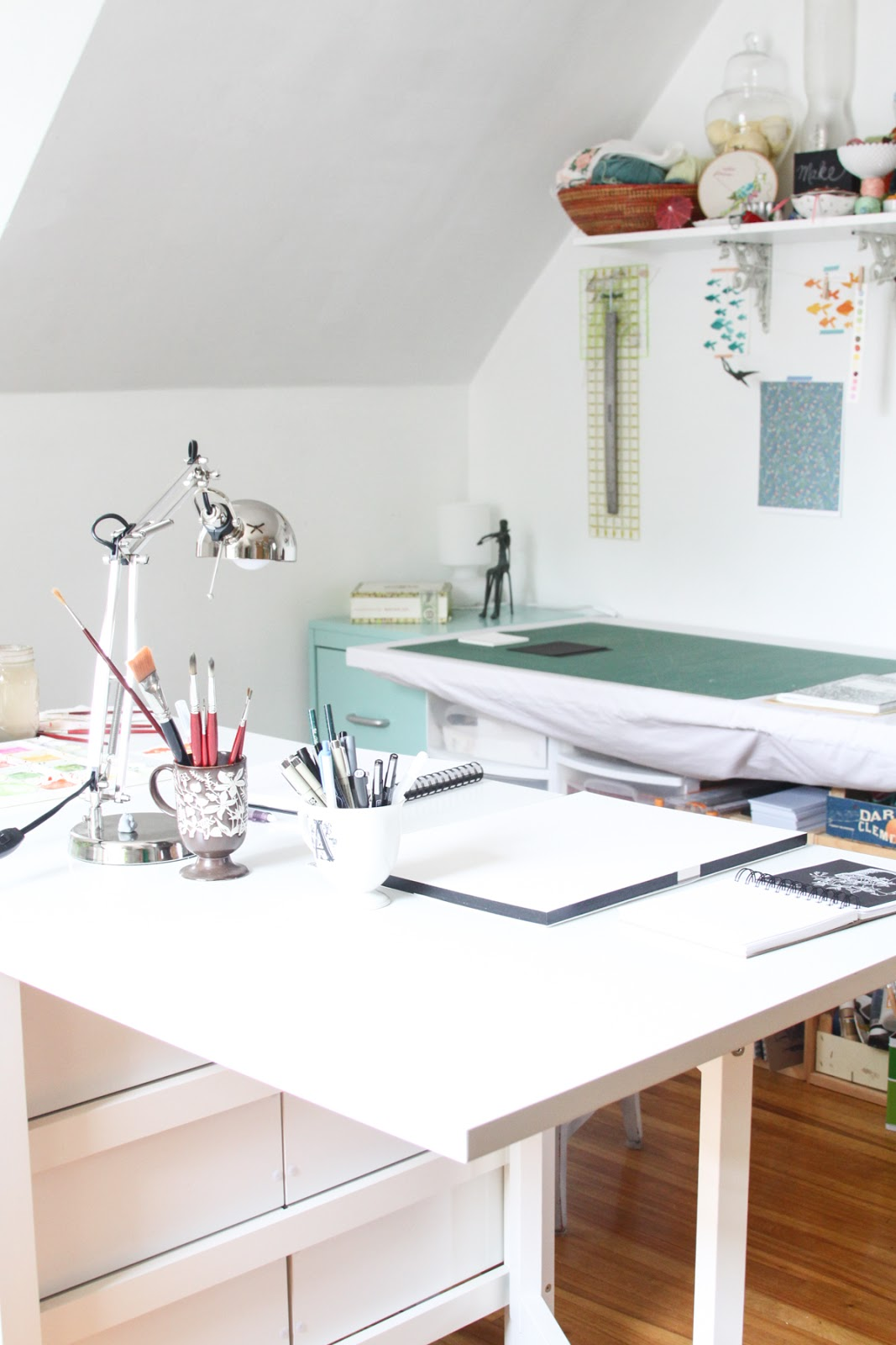 Studio, Artist Studio, Work Space, Work Tables, Studio Organization, Art  Supplies
