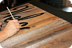 Three Mango Seeds Painting A Pallet Sign