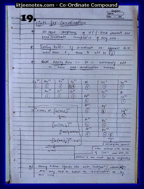 Coordinate Compound Notes4